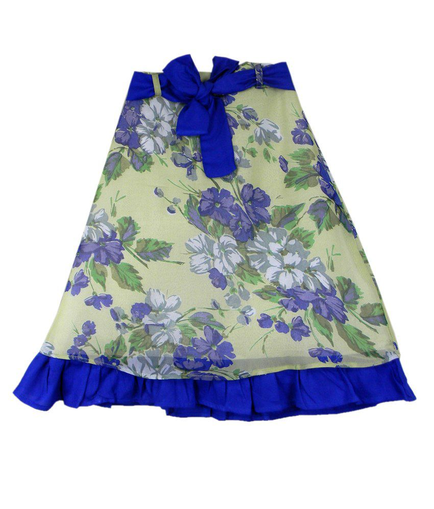 Ssmitn Blue Printed Skirt