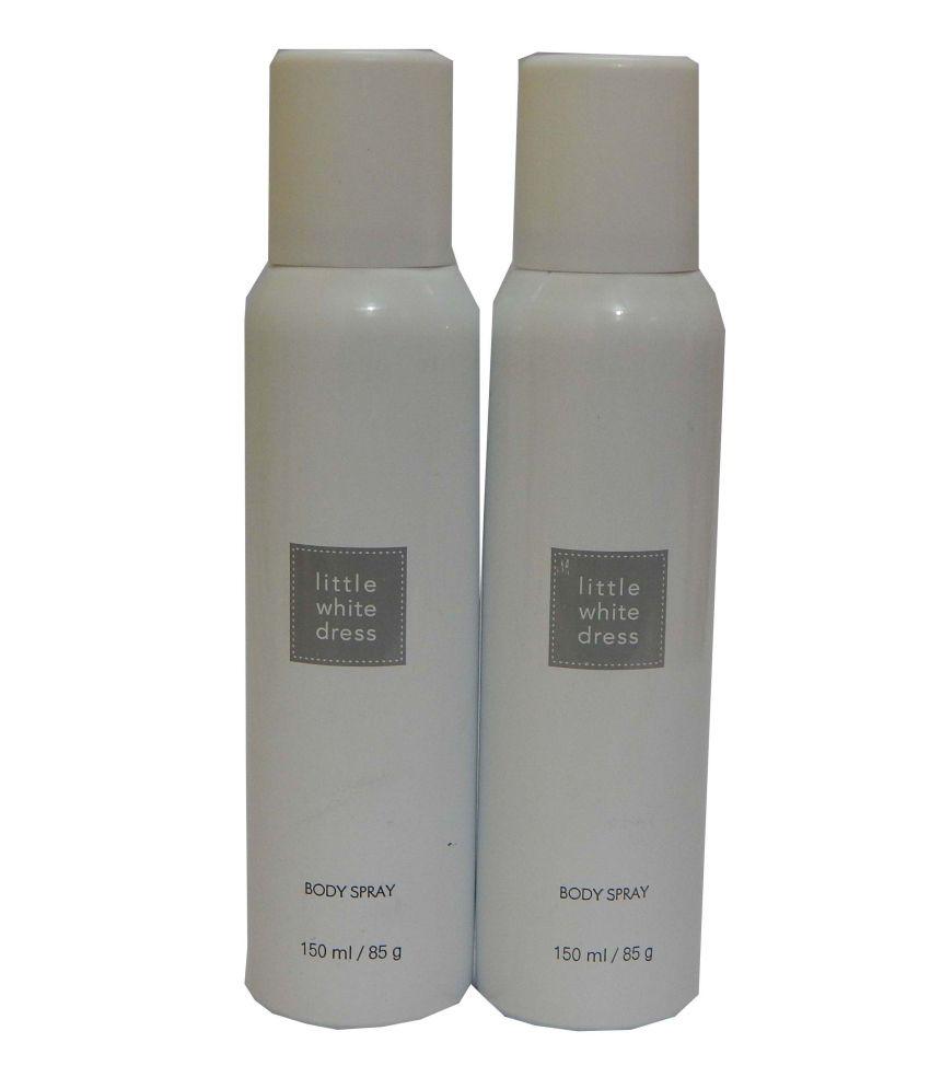 Avon Little White Dress Body Spray Each 150 Ml (set Of 2): Buy ...