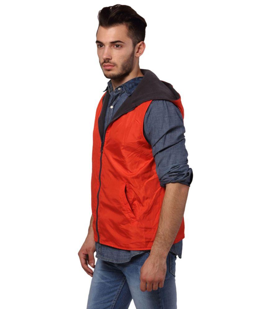Leather jacket yepme -  Yepme Orange Polyester Wind Cheaters