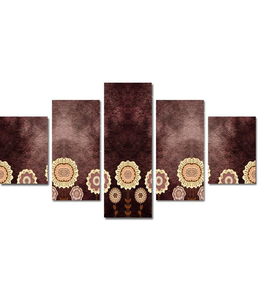 Anwesha's 5 Panel Stretched Canvas Print Wall Painting