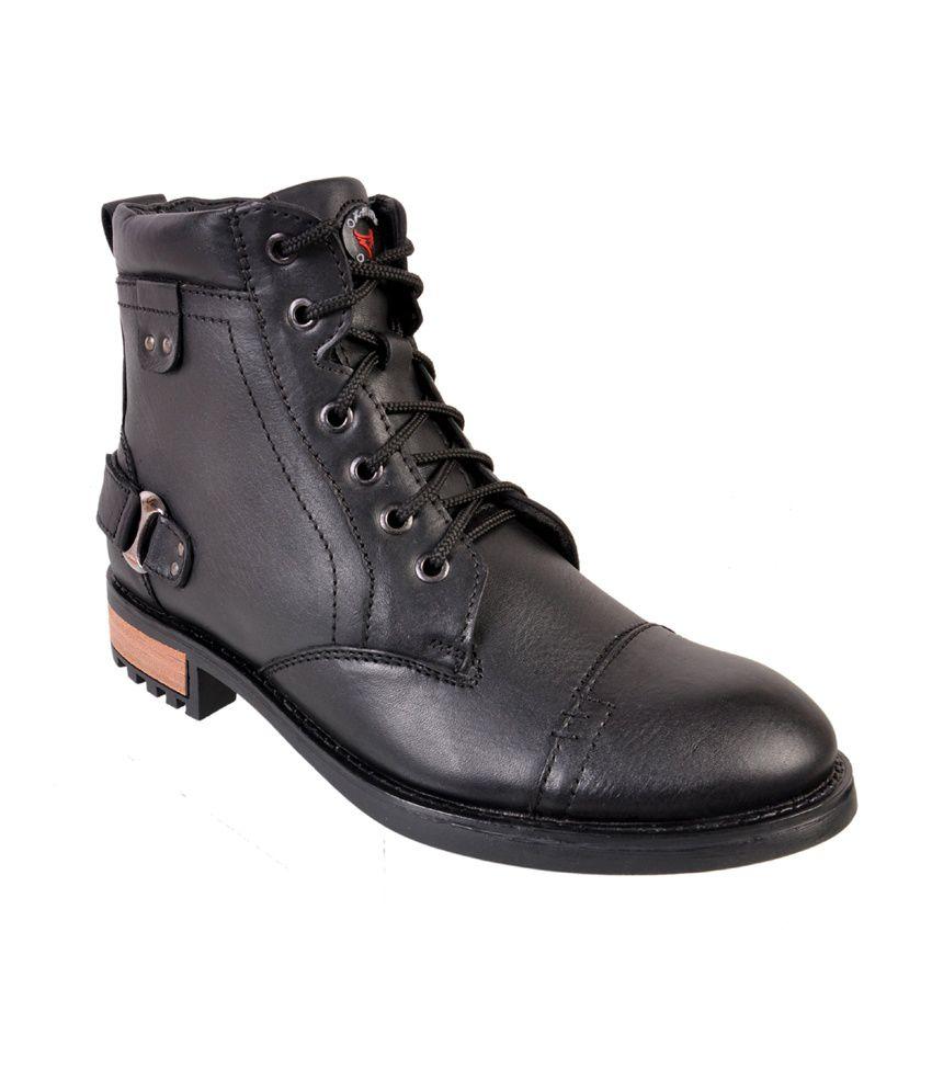 Mahajan's Oxhide Black Casual Boot