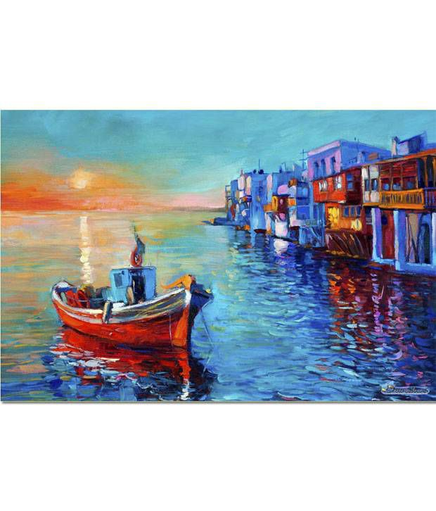 Anwesha's Gallery Wrapped Digitally Printed Canvas Wall Painting 30x20 Inch - 124