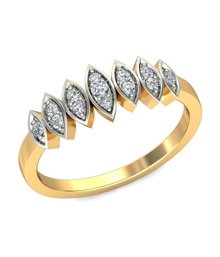 Jewelsnext 18kt Pure Gold Contemporary Masiel Diamond Ring