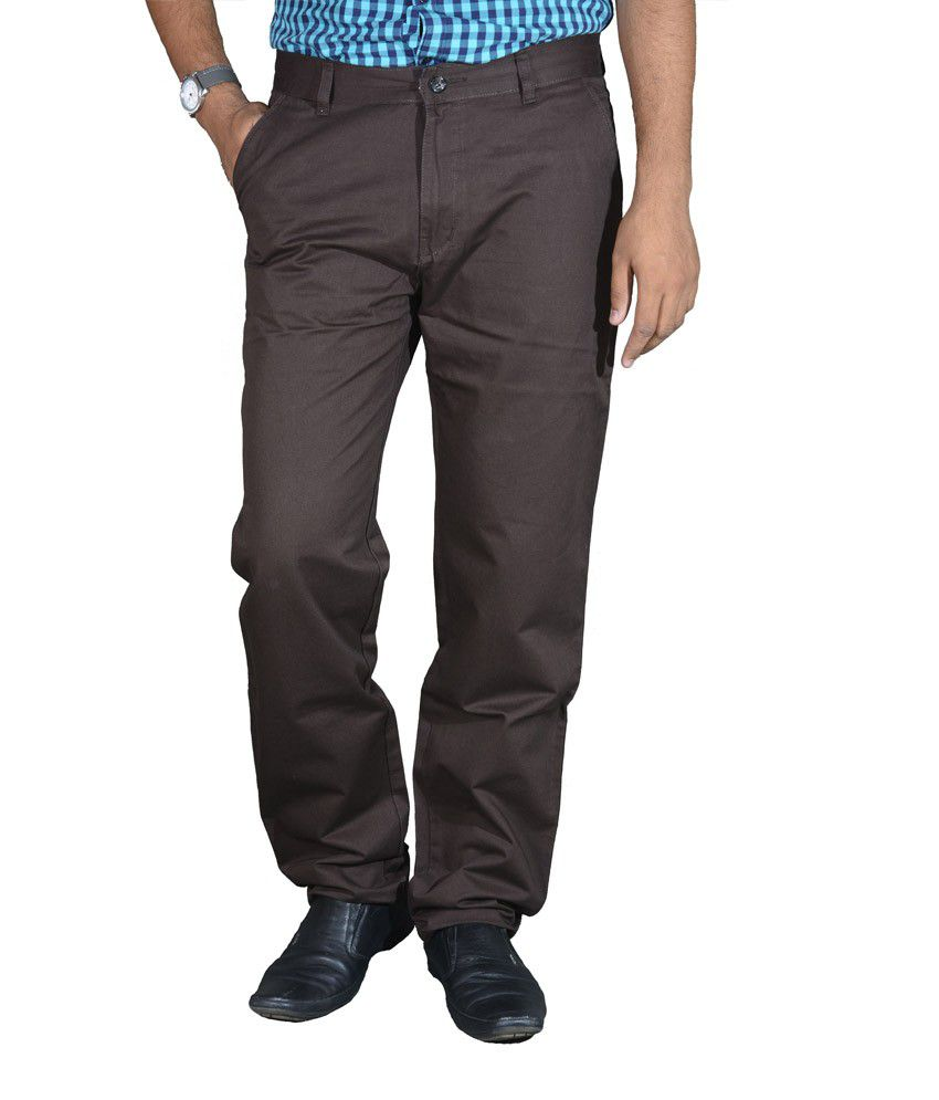 Studio Nexx Coffee Cotton Chinos Men's Trouser