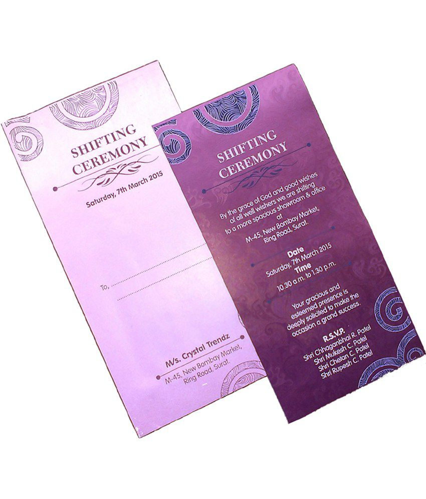 Hexoprint Invitation Card Combo Of 200 Buy Online At Best