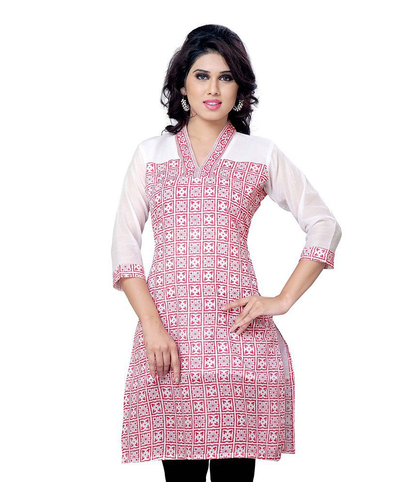 5a0638e21d Miss amp; Mrs Multicoloured Cotton Straight Kurti available at SnapDeal for  Rs.449