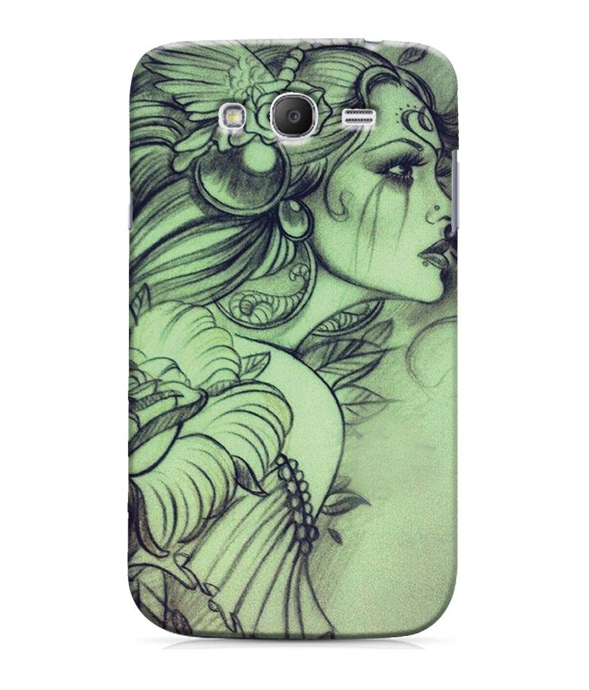 Snooky Back Cover Case For Samsung Galaxy Grand 2 Green