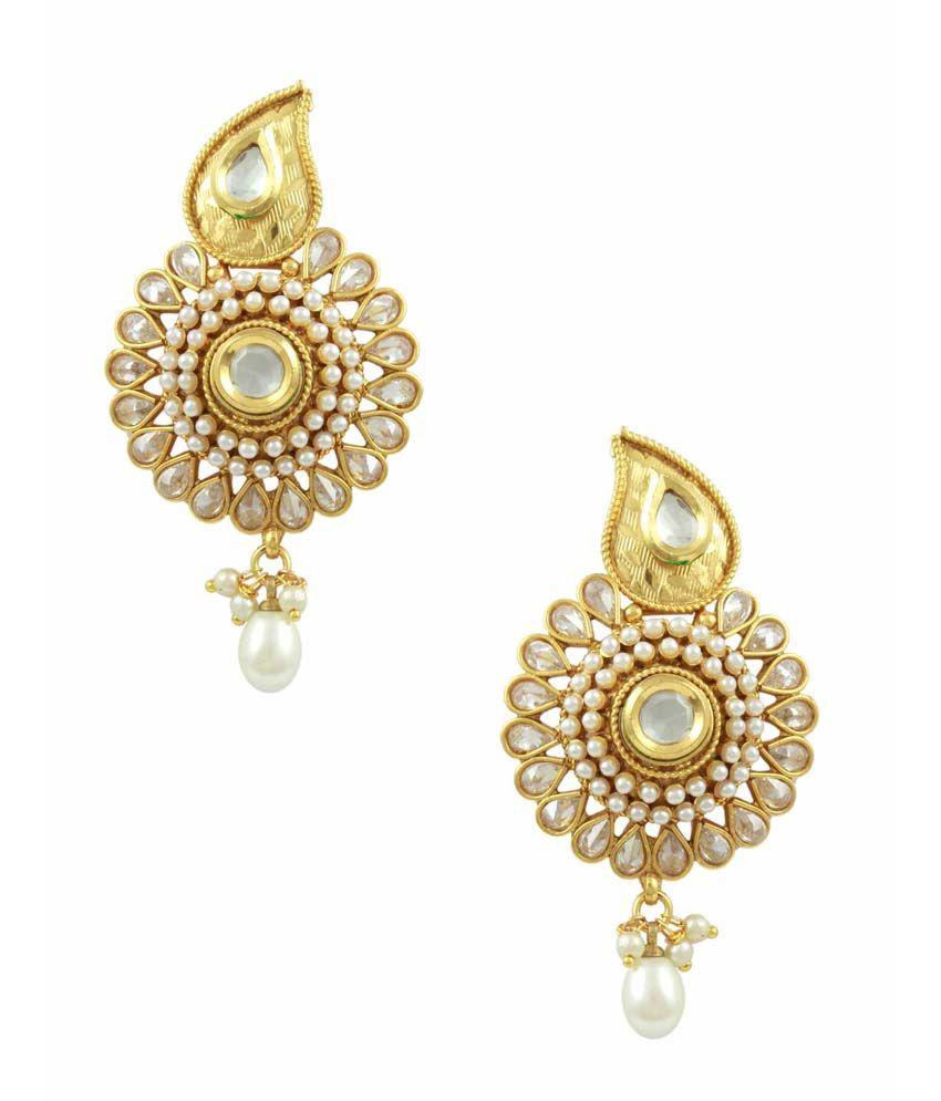 Orniza South Indian Style Pearl Earrings Buy Orniza