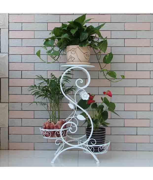 asian arts wrought iron metal plant pot stand french buy asian arts rh snapdeal com