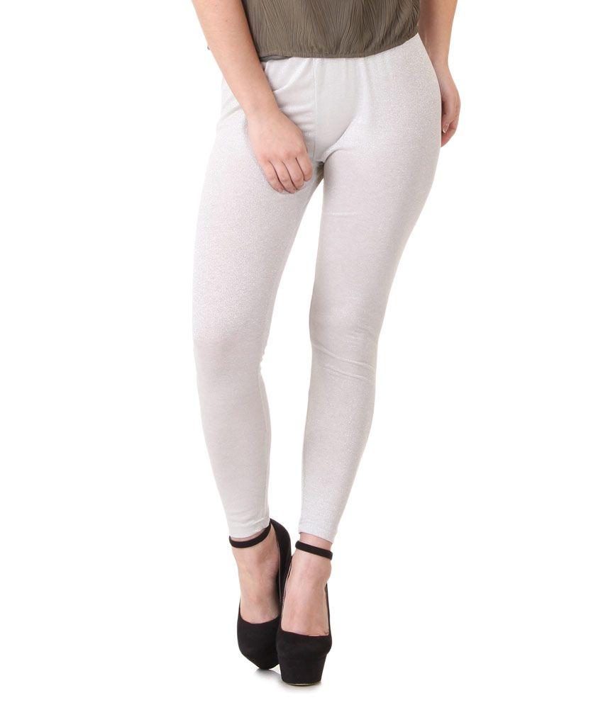 Buy Flur White Shimmer Legging Online at Best Prices in India ...