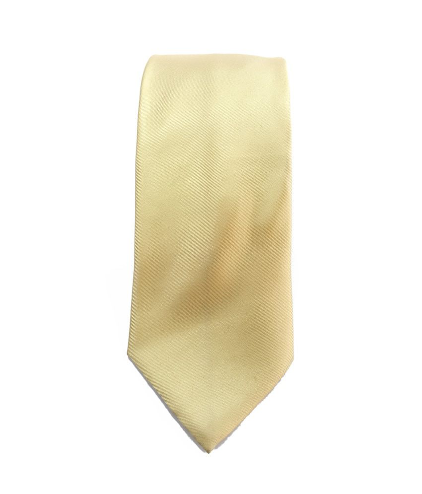 Raymond Avenue Yellow Plain Neck Tie