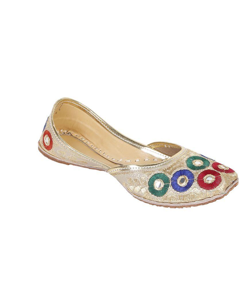 Stylogue Multicolor Flat Classic Punjabi Jutti