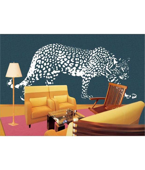 Home Decor Tatoos Cheetah Wall Sticker Buy Home Decor Tatoos Cheetah Wall Sticker At Best Price