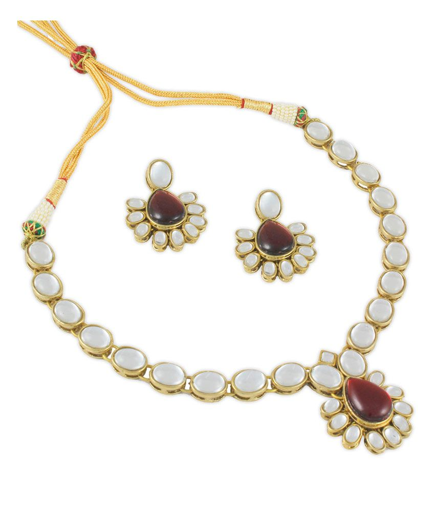 295bef293c Karatcart Red Bridal Kundan Bridal Necklace Set - Buy Karatcart Red Bridal  Kundan Bridal Necklace Set Online at Best Prices in India on Snapdeal