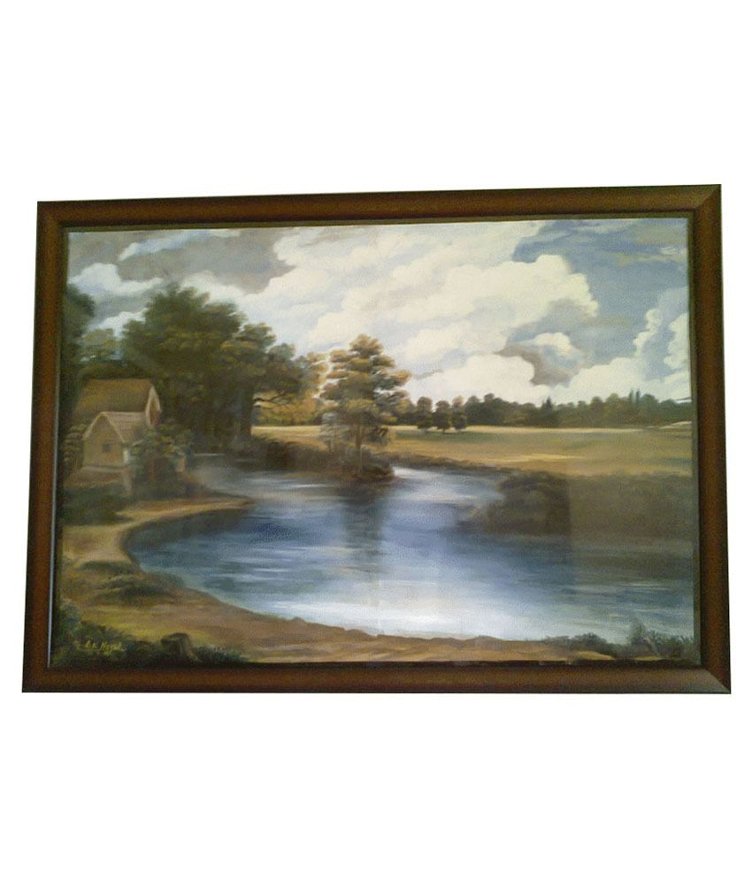 PN Arts Lake Side Scenic View Wall Nature Painting