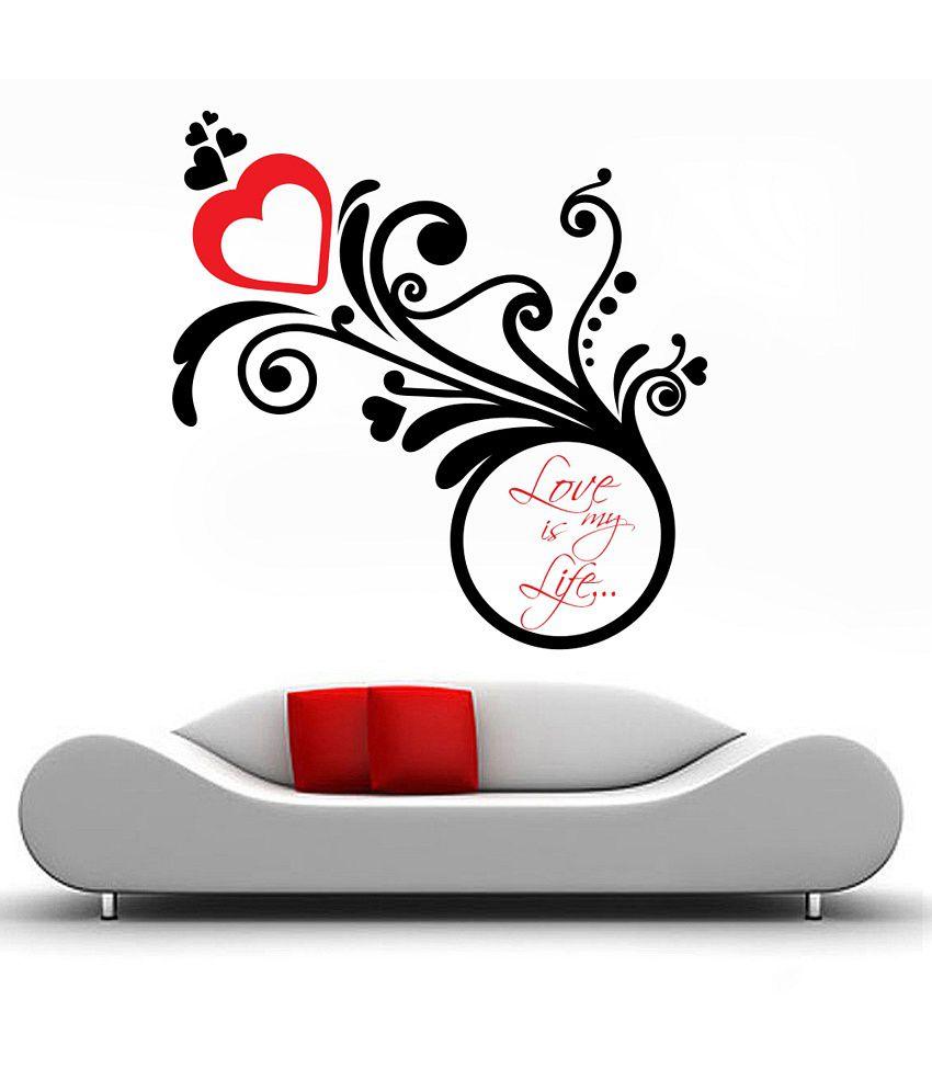 Decor Kafe Love Floral Design Wall Decal Buy Decor Kafe Love