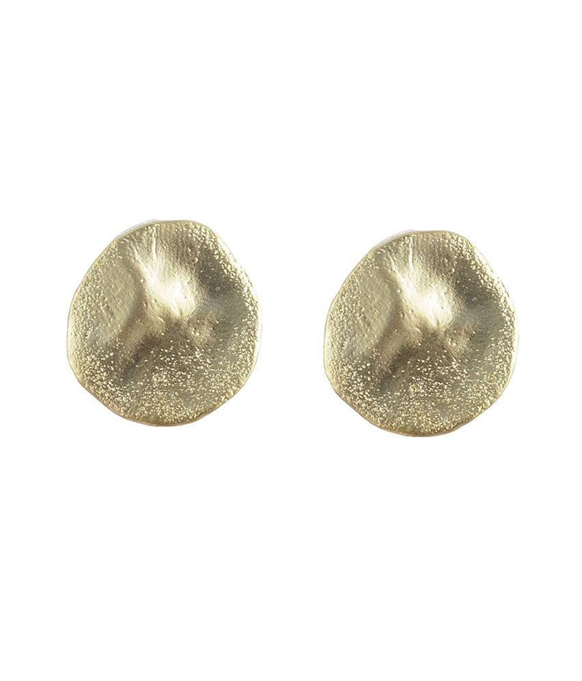 Gildermen Matt Gold Studs For Women