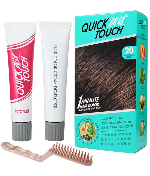 Quicktouch 1 Minute Hair Color Brown Black Buy Quicktouch 1
