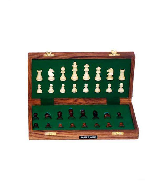 Roger & Moris Wooden Chess 12 X 12 Inch