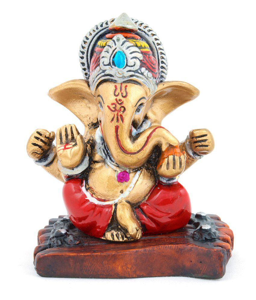 The Nodding Head Beautiful Crown Ganesha Showpiece Figurine