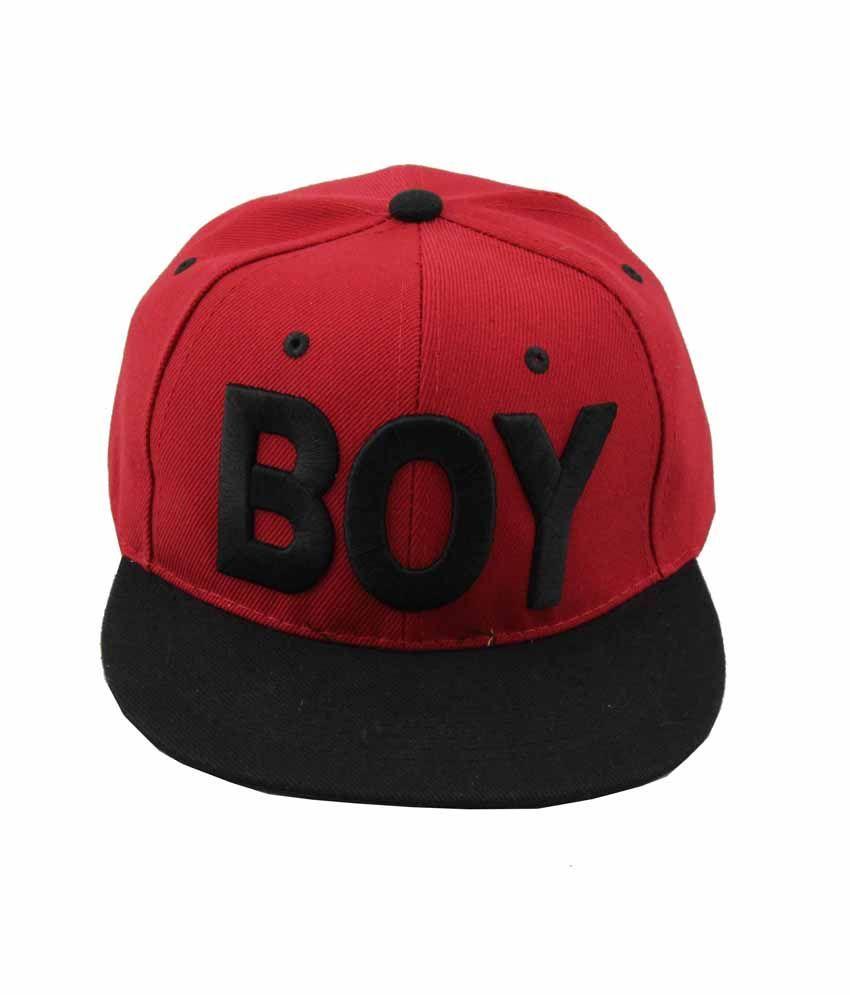 Jstarmart Red Black Boy Dance Cap