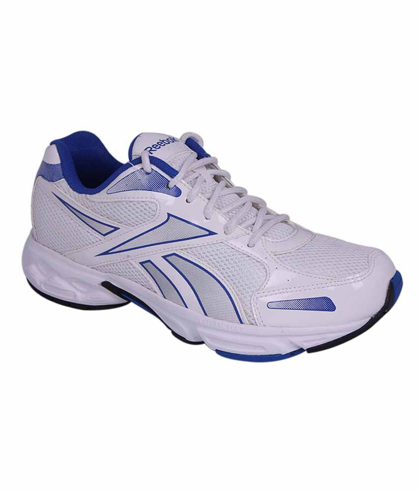 Reebok White And Blue Colour Running