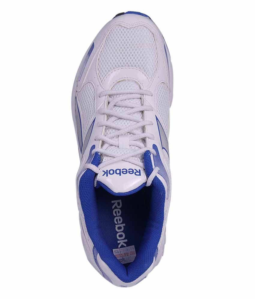 1f1b67b529a201 Reebok White And Blue Colour Running Shoes For Men - Buy Reebok ...