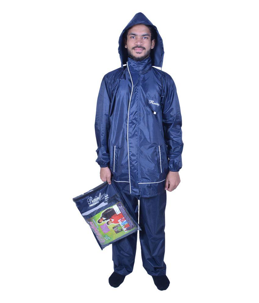 Rainfun Blue Polyester Rain Wear Jacket - Buy Rainfun Blue Polyester Rain Wear Jacket Online At ...