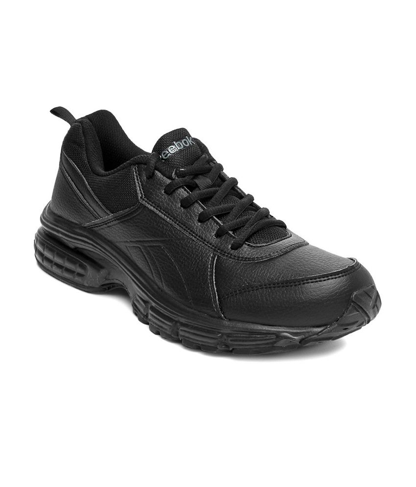 d1110ad9bc5 Reebok Black Synthetic Leather Sport Shoes For Men - Buy Reebok Black  Synthetic Leather Sport Shoes For Men Online at Best Prices in India on  Snapdeal
