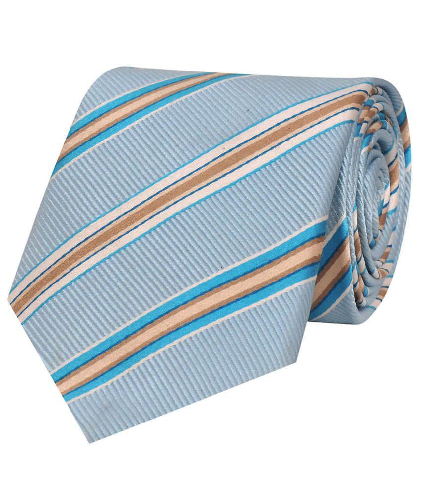 Tiekart Blue Silk Men's Broad Necktie