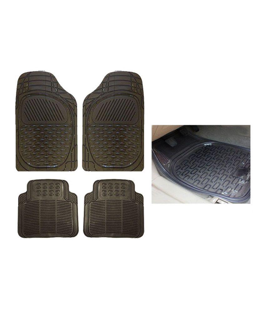 Q7 rubber floor mats - Autosun Smoke Rubber Car Foot Mat Set Of 4 For Audi Q7
