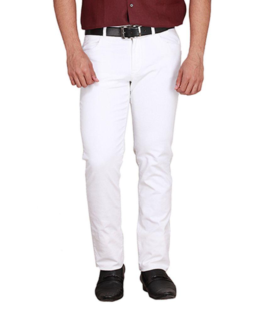 Givo White Slim Formals