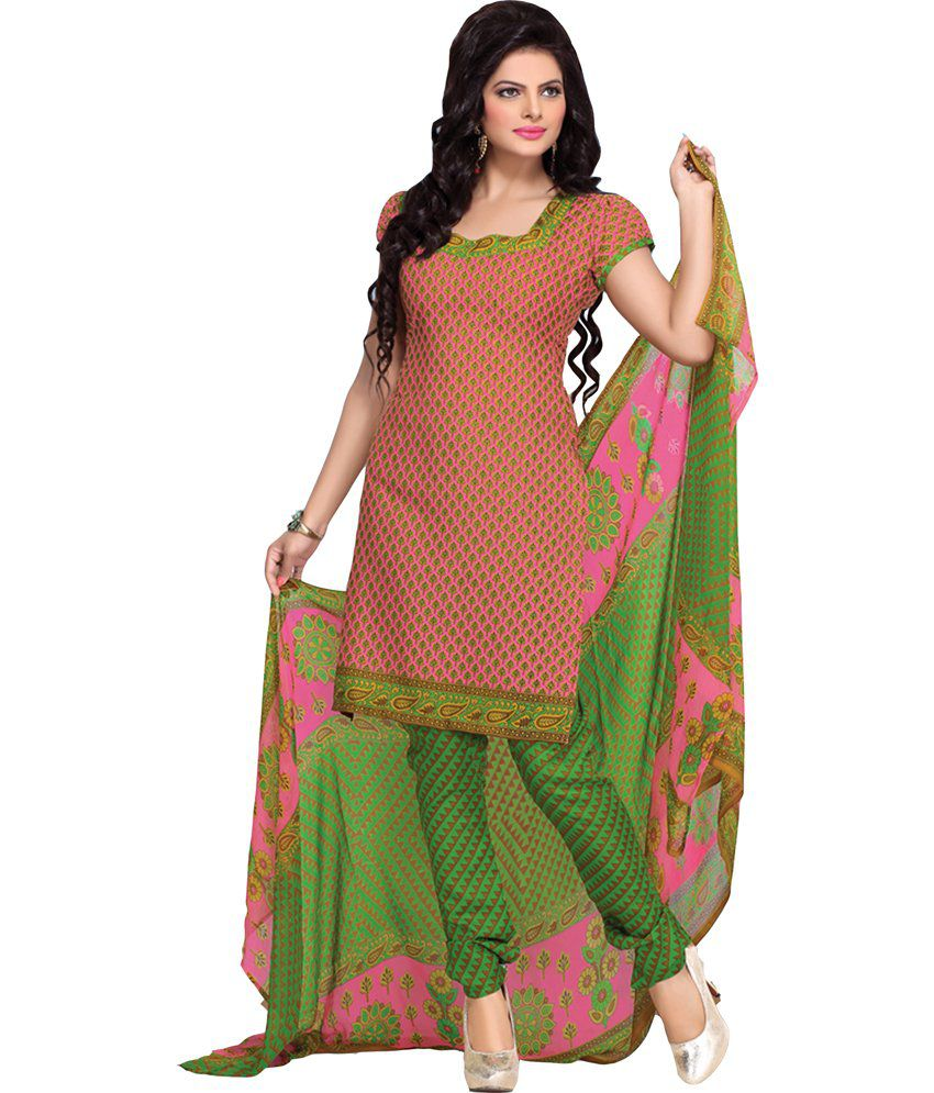 Melluha Multicoloured Cotton Unstitched Dress Material