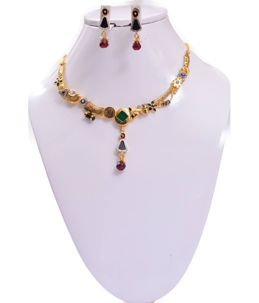 Rubera American Diamond Designer Necklace Set