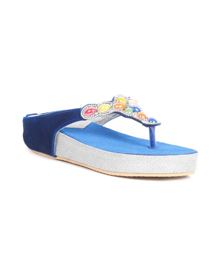 Girlish Footwear Blue Flat Sandals