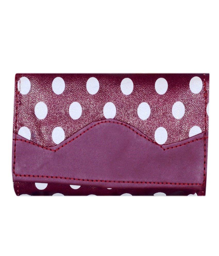 Home Zaara Designer Maroon Fashionable Premium Quality Unique Wallet For Women