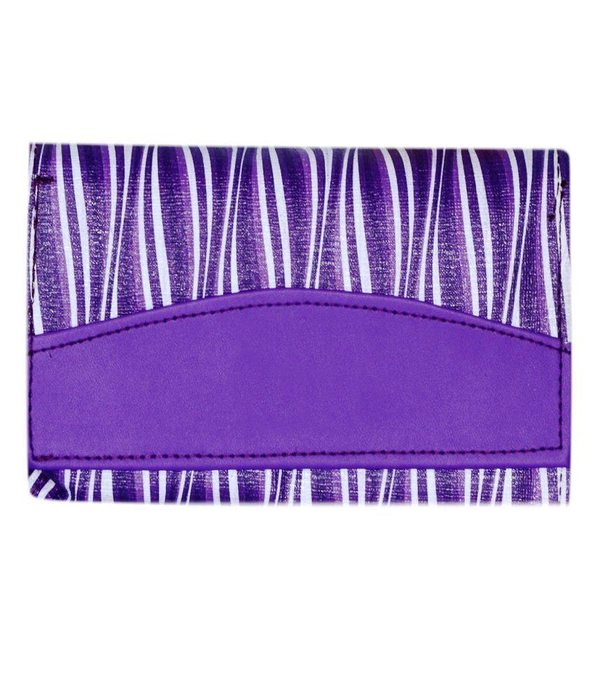 Home Zaara Designer Purple Fashionable Premium Quality Unique Wallet For Women