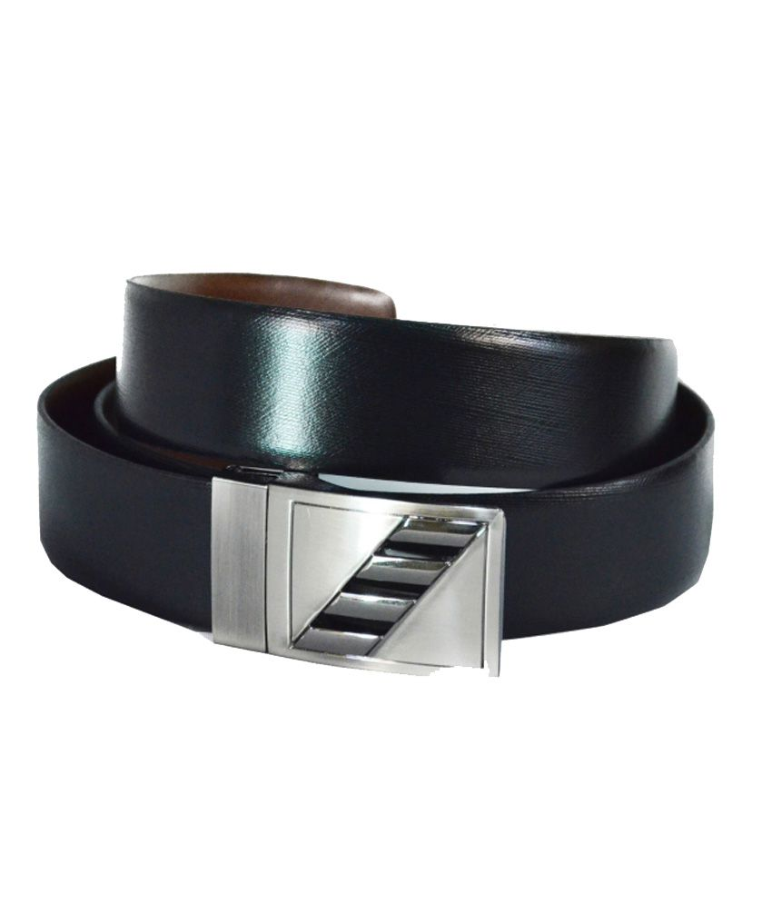 Komal Black Leather Pin Buckle Belts