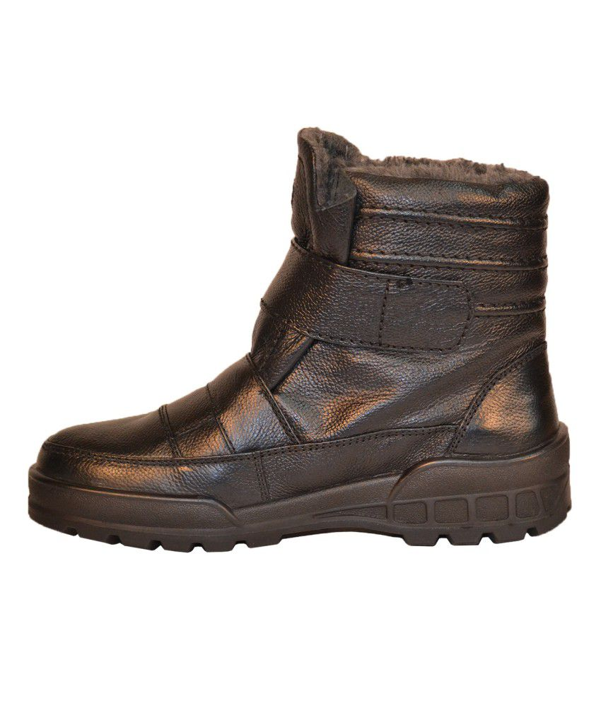 Tsf Leather Fur Boots - Buy Tsf Leather