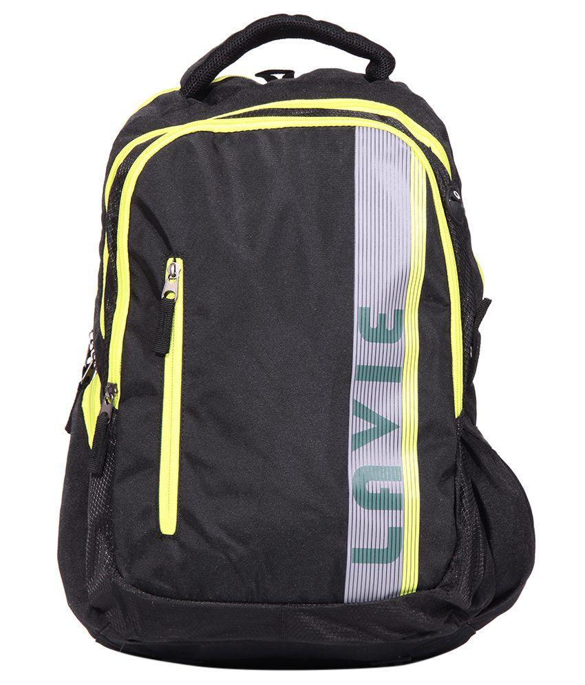Lavie Prime 4 Black Backpack No - Buy Lavie Prime 4 Black Backpack No  Online at Low Price - Snapdeal e12ac29566fb7