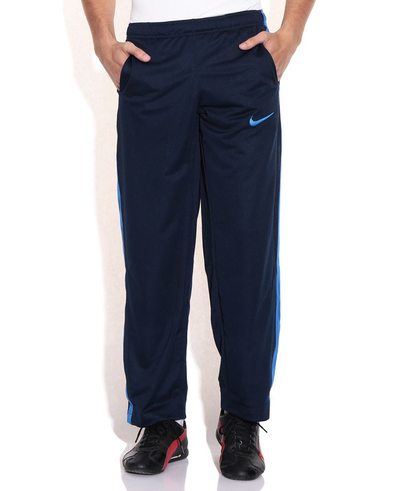 Nike Blue Polyester Trackpants