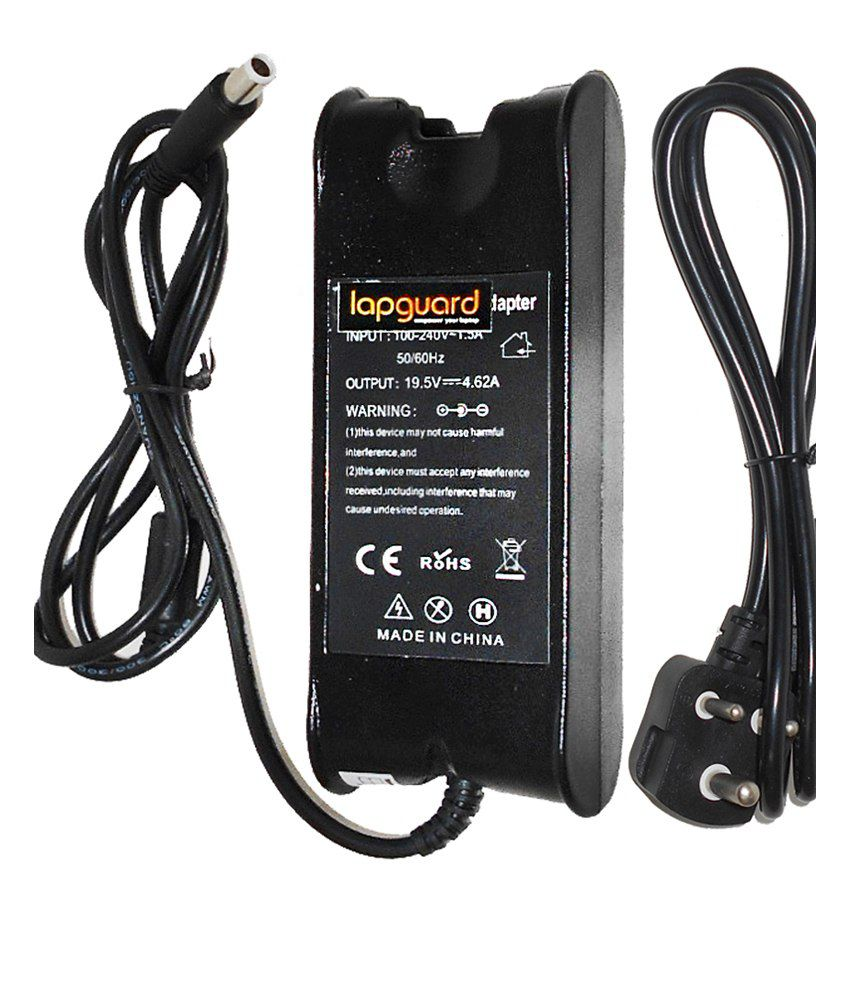 Lapguard Laptop Charger For Dell Studio 1569 1640 19.5v 4.62a 90w Connector