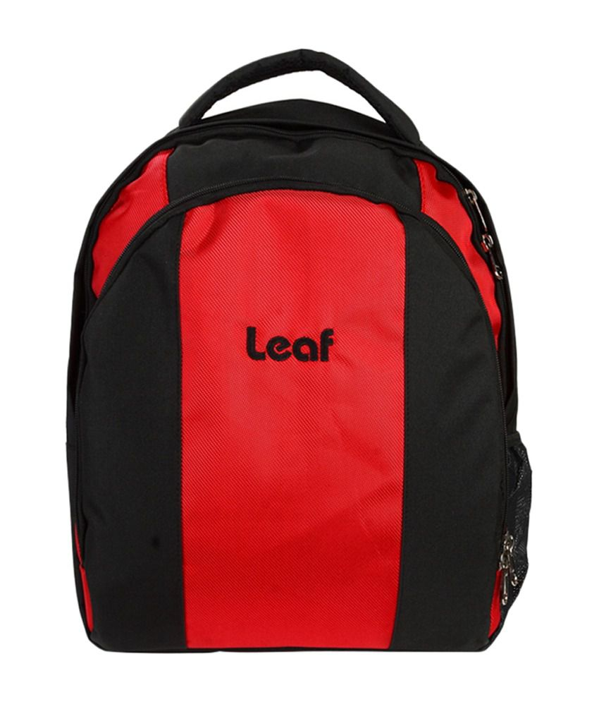 Leaf Iris Laptop Black And Red Backpacks