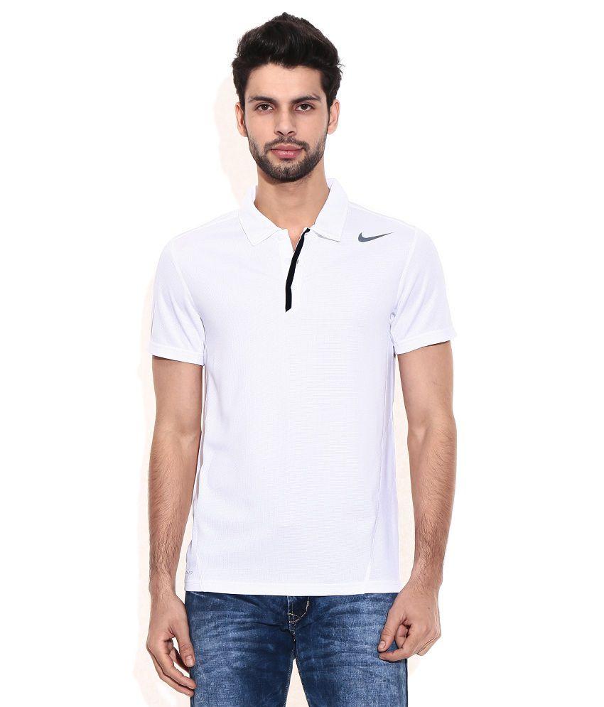 Nike White Polyester T-shirt