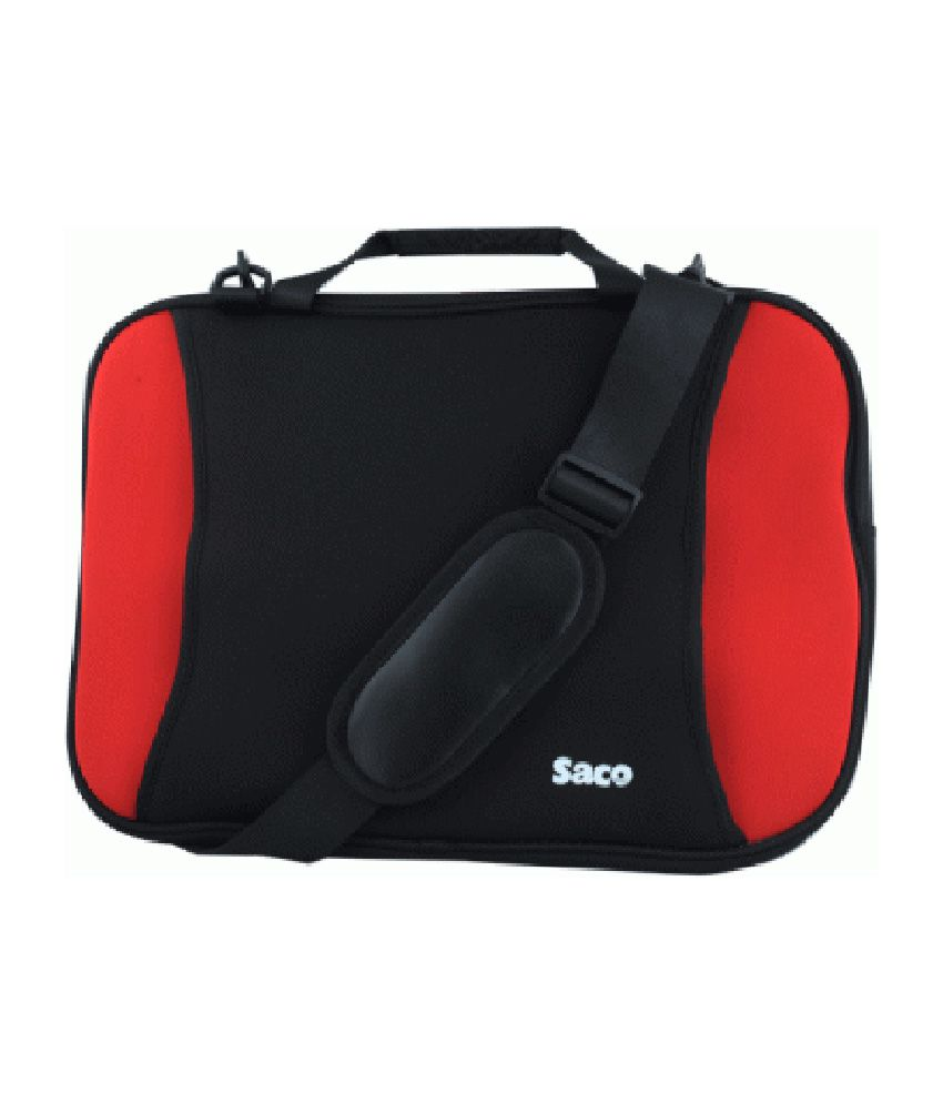Saco Shock Proof Slim Laptop Bag For Hp Envy Touch Smart 14-k102tx Ultrabook - 14 Inch