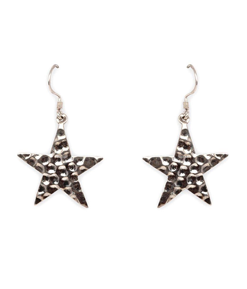 Silverwala 925 Silver Plain Earrings