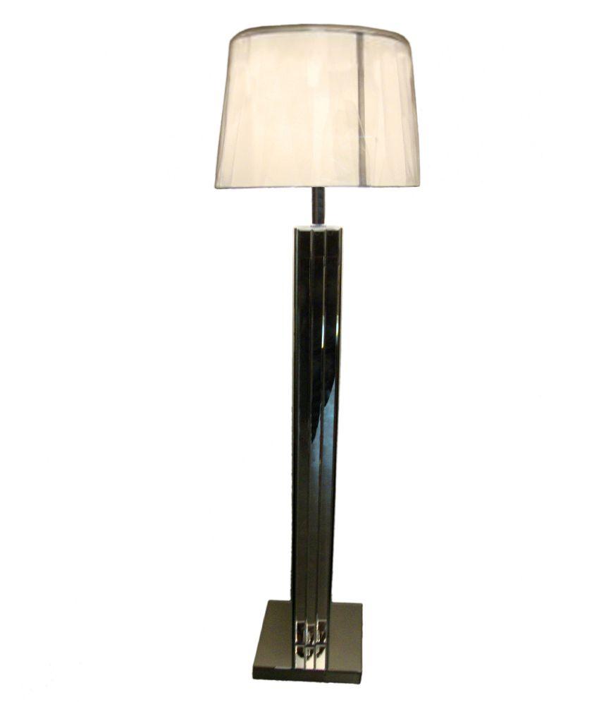Foyer Silver Glass Floor Lamp: Buy Foyer Silver Glass