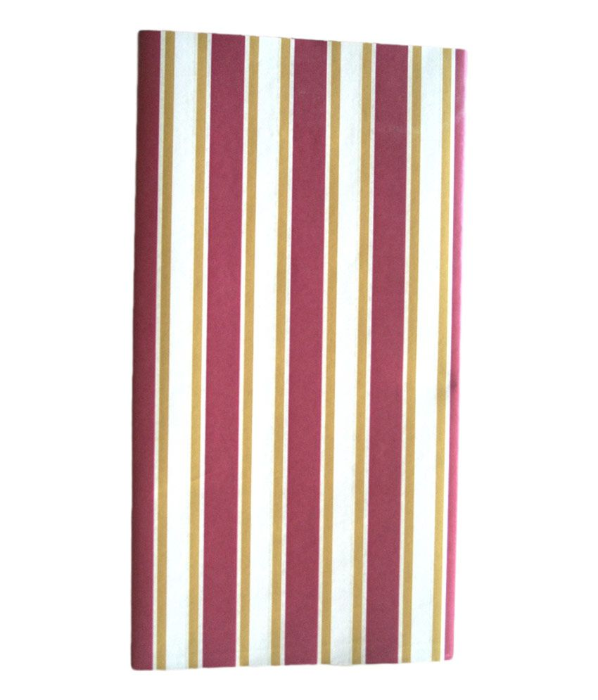Hargan Maroon& Gold Strip Wrapping Paper With 12 Multicolour Name Cards And 100 Excellent Quality Packing Tape Strips