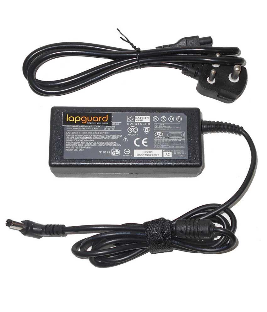 Lapguard Laptop Adapter For Emachine E725 E725-423g16mi, 19v 3.42a 65w Connector