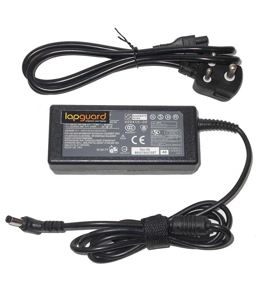 Lapguard Laptop Adapter For Toshiba Satellite Pro L770-105 L830, 19v 3.42a 65w Connector